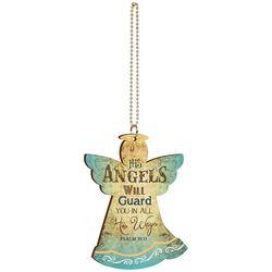 P. Graham Dunn His Angels Will Guard You Car Charm
