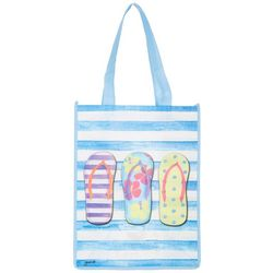 Gwen's Nest Flip Flop Stripe Shopping Bag