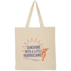 Florida Strong Sunshine With A Little Hurricane Tote Bag