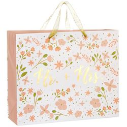 CR Gibson Mr.+ Mrs. Floral Large Gift Bag