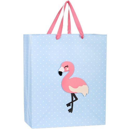 CR Gibson Flamingo Large Gift Bag  3e4912489