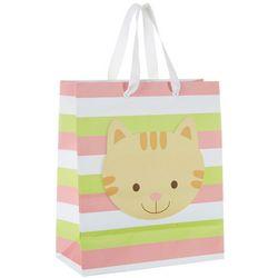 CR Gibson Stripe Cat Standard Gift Bag