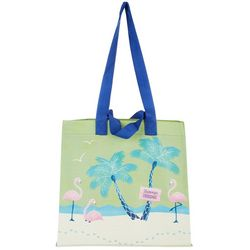 Tropix Flamingo Flock Large Reusable Shopping Bag