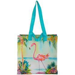 Art & Sol By Ellen Flamingo Lagoon Reusable Shopping Bag