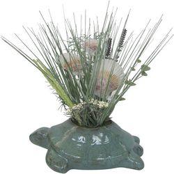 I.J.K. Artificial Grass & Turtle Pot Arrangement