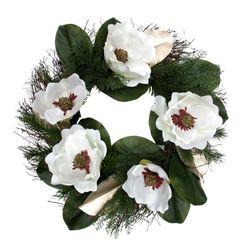 Coastal Home 22'' Magnolia Flower Wreath