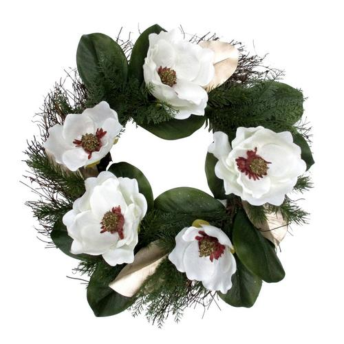 Coastal Home 22 Magnolia Flower Wreath Bealls Florida