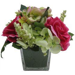 Coastal Home Rose & Hydrangea Artificial Arrangement