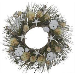 Coastal Home 24'' Sand Dollar & Shell Wreath