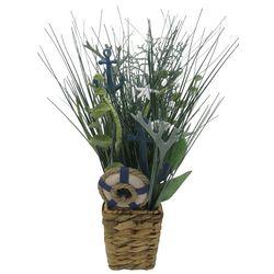 Coastal Home 18'' Anchor Sea Grass Arrangement In Basket