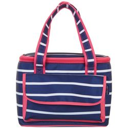 Tackle & Tides Stripe 16 Can Cooler Tote