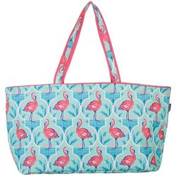 Tackle & Tides Flamingo Trellis Ultimate Tote