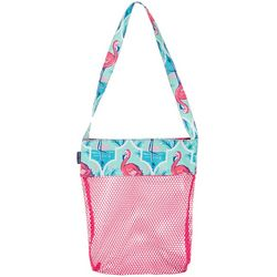 Tackle & Tides Flamingo Trellis Mesh Shell Bag