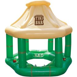 Swimline Swimming Pool Party Inflatable Floating Tiki Bar