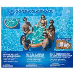 Swimline Blackjack Table Game With Water Proof Cards