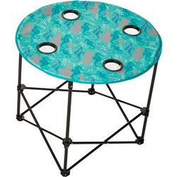 Tropix Seahorse Print Foldable Round Table