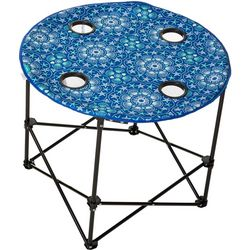 Tropix Shell Medallion Print Foldable Round Table