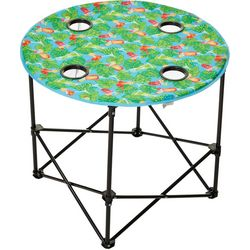 Tropix Tropical Drinks Print Foldable Round Table