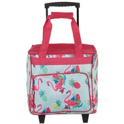 Tropix Flamingo Pineapple Rolling Cooler