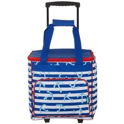Tropix Rugby Anchor Stripes Rolling Cooler