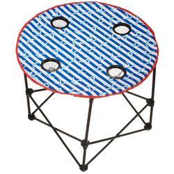 Tropix Anchor Stripe Round Table