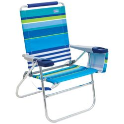 Rio Brands 4 Position Stripe Beach Chair
