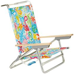 Rio Brands 5 Position Paisley Print High Back Beach Chair