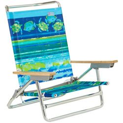 Rio Brands 5 Position Turtle Print High Back Beach Chair