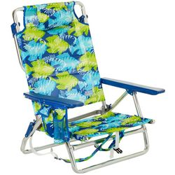 Rio Brands 5 Position Fish Print Backpack Beach Chair