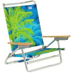 Rio Brands 5 Position Palm Print High Back Beach Chair