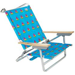 Rio Brands 5 Position Watermelon Print Beach Chair