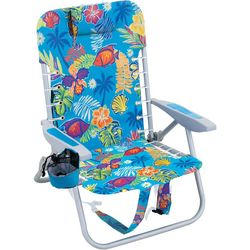 Rio Brands 4 Position Tropical Fish Lace-Up Backpack Chair