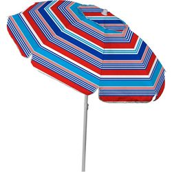 JGR Copa 6 Ft. Stripe Wind Vent Beach Umbrella