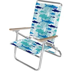 JGR Copa 3-Position Fish Print Beach Chair