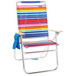 JGR Copa Big Tycoon Pink Multi Stripe Beach Chair