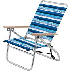 JGR Copa 3-Position Striped Palm Tree Beach Chair