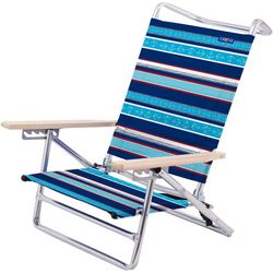 JGR Copa 5-Position Stripe Anchor Lay Flat  Beach Chair