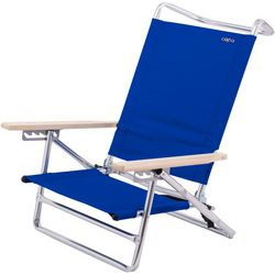 JGR Copa 5-Position Solid Lay Flat  Beach Chair
