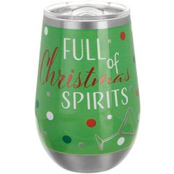 Brighten the Season 12 oz. Stainless Steel Spirit Wine Glass