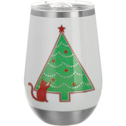 Brighten the Season 12 oz Stainless Steel Oh Tree Wine Glass