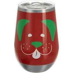 Brighten the Season 12 oz Stainless Steel Naughty Wine Glass