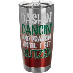 Brighten the Season 20 oz. Stainless Steel Blitzen Tumbler