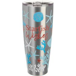 Brighten the Season 30 oz Stainless Steel Starfish Tumbler
