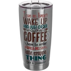 Grey & Disorderly 20 oz. Stainless Steel Coffee Tumbler
