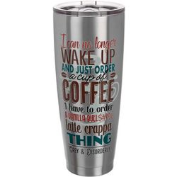 Grey & Disorderly 30 oz. Stainless Steel Coffee Tumbler