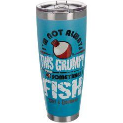 Grey & Disorderly 30 oz. Stainless Steel Grumpy Fish Tumbler