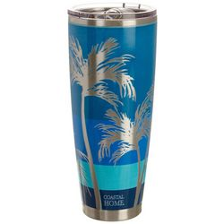 Coastal Home 30 oz. Stainless Steel Palm Bay Tumbler