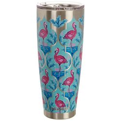 Tackle & Tides 30 oz. Stainless Steel Flamingo Tumbler