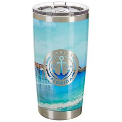 Tropix 20 oz. Stainless Steel Naples Florida Travel Tumbler