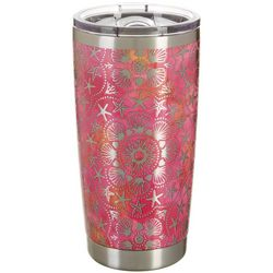 Tropix 20 oz. Stainless Steel Shell Medallion Tumbler